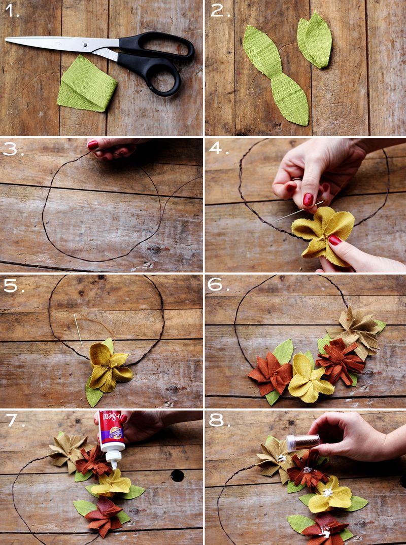 diy como hacer corona flores howto with como hacer diademas de flores