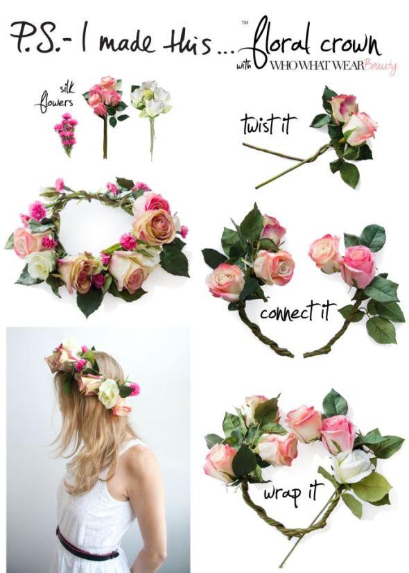 diy como hacer corona flores