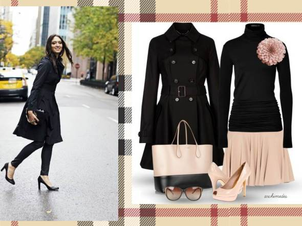 MY STYLE BCN trench negro